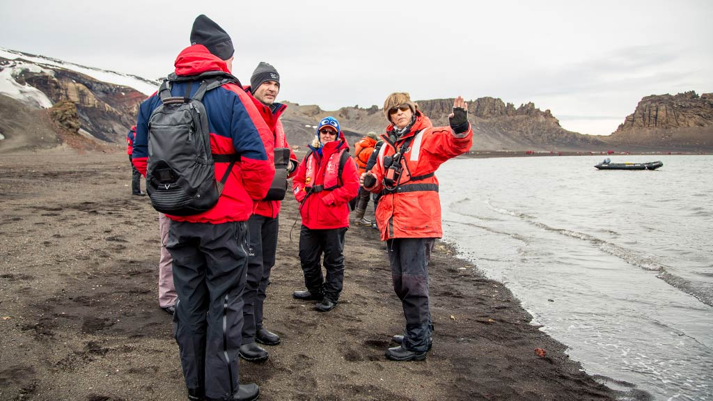 Antarctica shore briefing