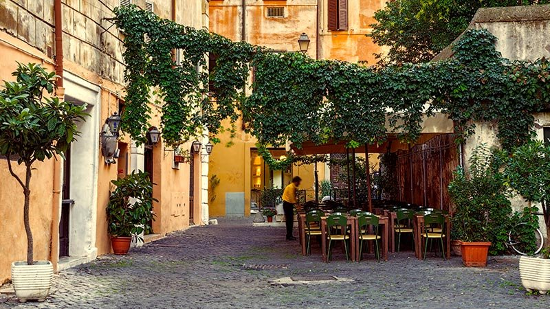 Europe Italy Rome Restaurant Outdoors 3