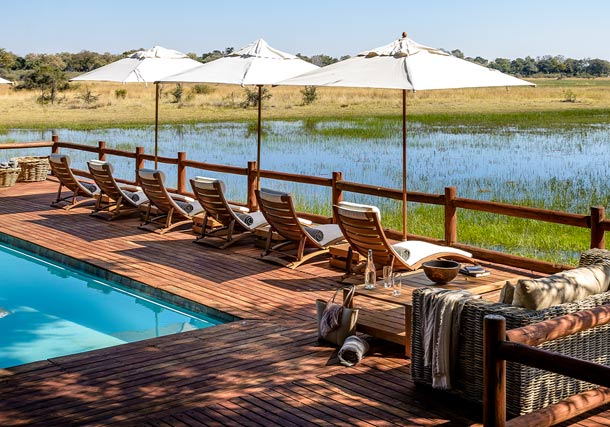 Africa Botswana okavango Delta Chiefs Camp Pool search
