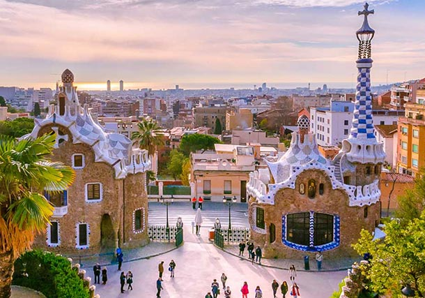 Europe Spain Barcelona Park Guell search