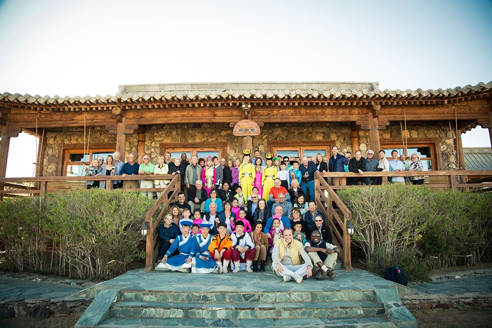 Mongolia Gobi Desert Group Photo
