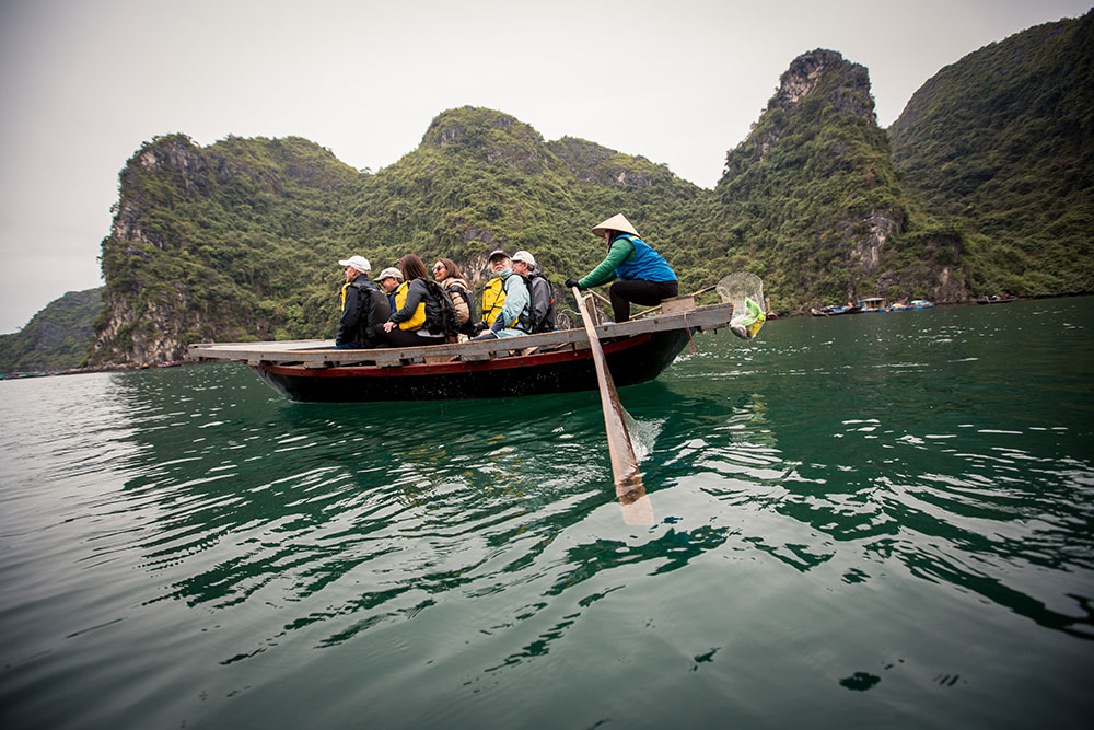 Indochina Day 2: Hanoi to Halong Bay, classic junk