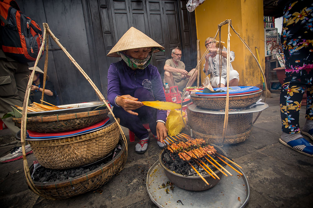 Indochina Day 4: Hoi An, street barbeque