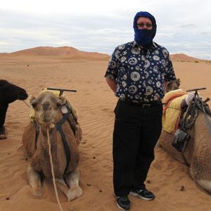 Yours truly prepared from my camel ride to the Desert Camp.