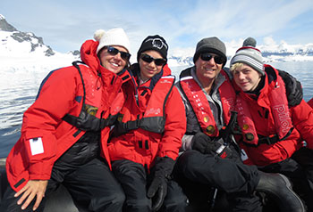 Jacobson Family in Antarctica