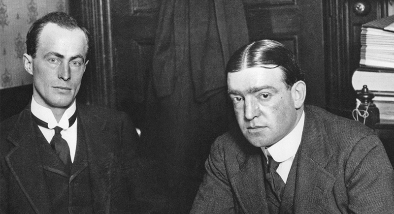 Douglas Mawson and Ernest Shackleton