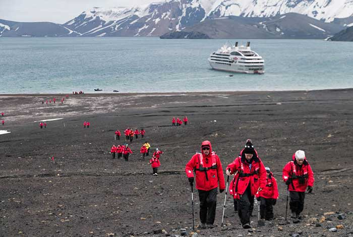 Hike At Telefon Bay On Deception Island Active Volcano