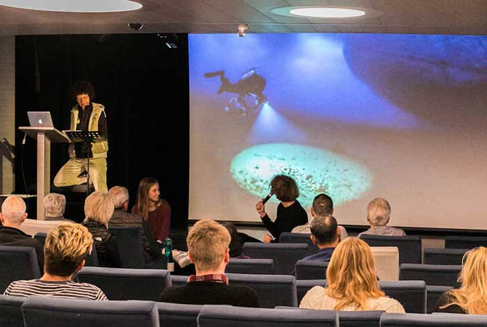 Antarctic Benthic Community Lecture With Sabina And Two Young Explorers Guests Jacqueline And Bowen