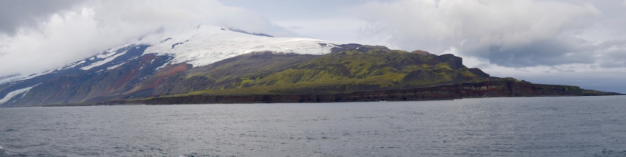 Volcanic cone of Jan Mayen