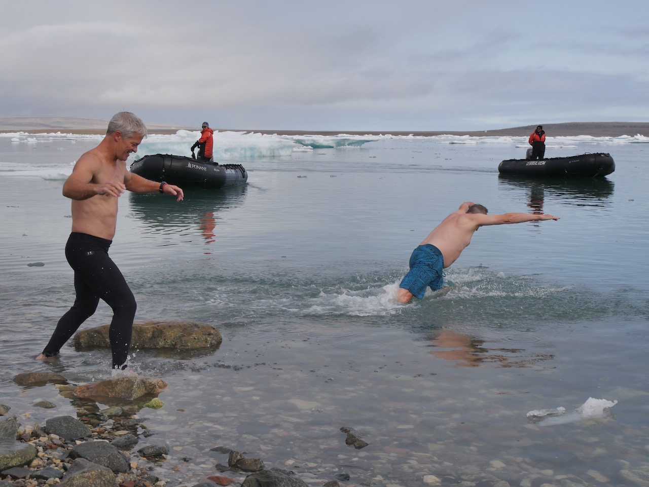 Polar plungers at Fort Ross