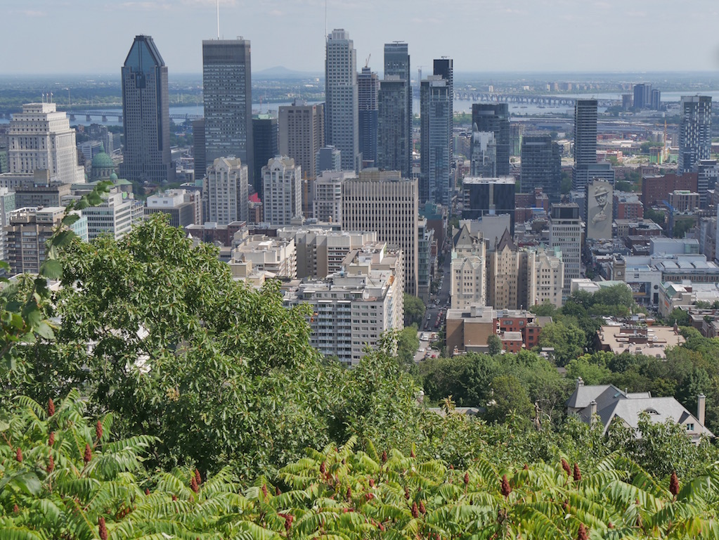 Montreal from the mountaintop