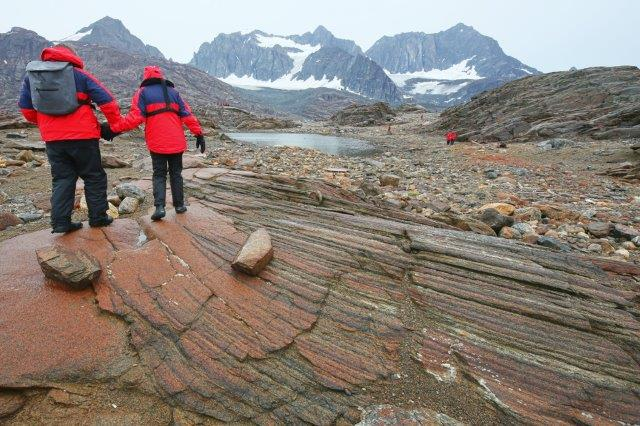 layered igneous rocks east greenland