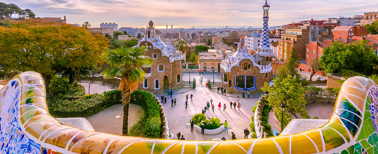 Europe Spain Barcelona Park Guell