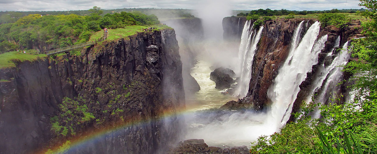 Southern Africa Zimbabawe Victoria Falls Rainbow