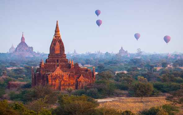 Myanmar Temple Dotted Landscapes