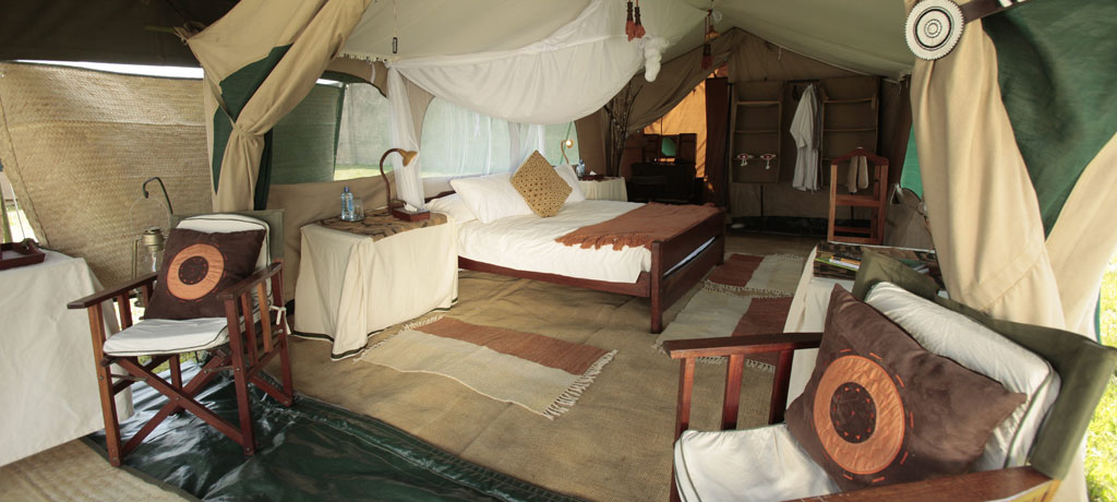 guest tent bedroom and terrace