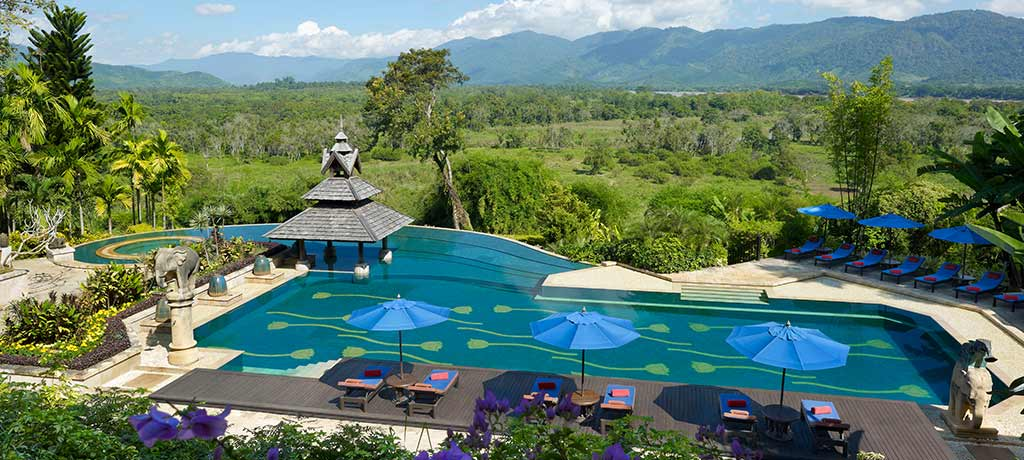 asia thailand chian rai anantara golden triangle camp and resort pool