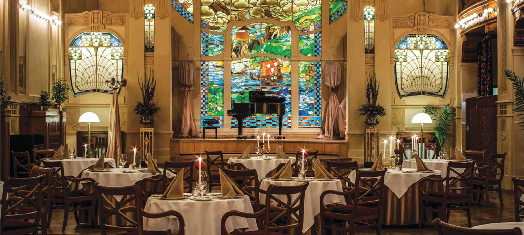 Europe Russia St Petersburg Grand Hotel Europe dining