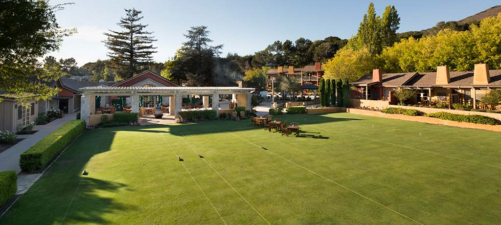 bocce and croquet lawn