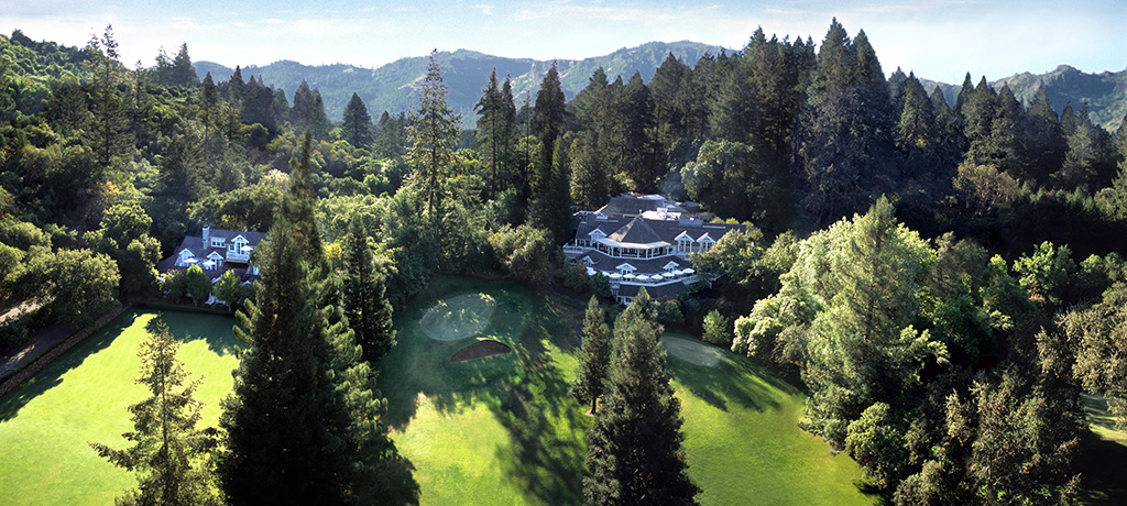 North America United States California Meadowood Hotel Exterior Aerial View 02