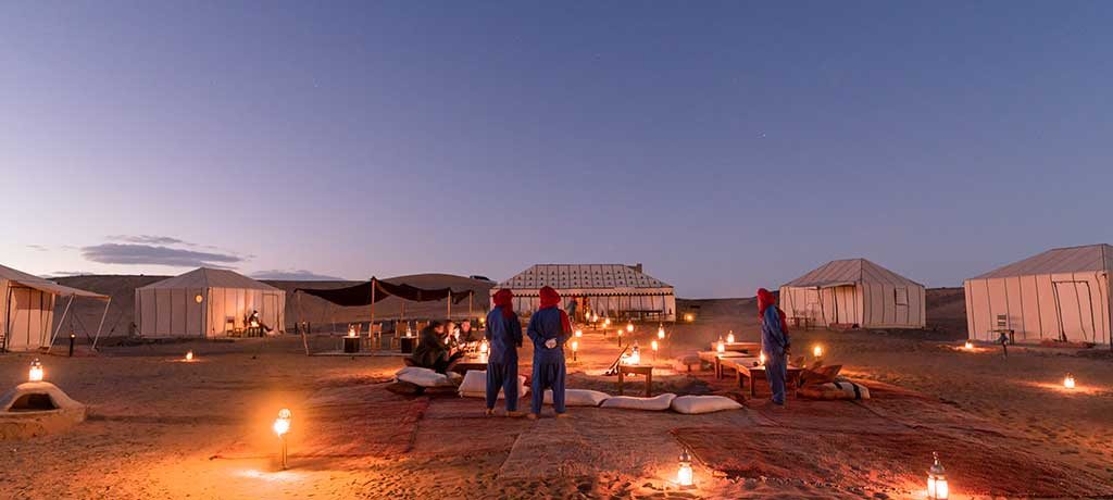 Middle East Morocco Merzouga Luxury Desert Camp Exterior