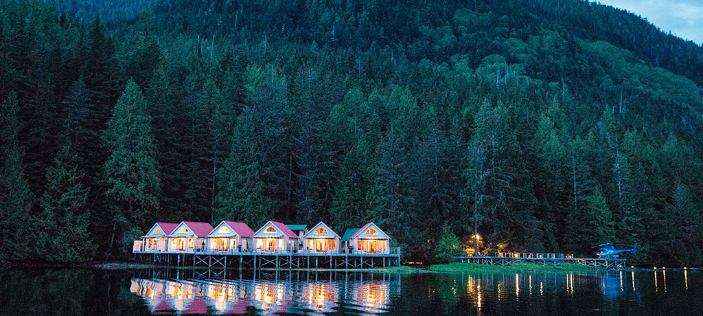 North America Canada Mount Waddington Nimmo Bay Resort Exterior