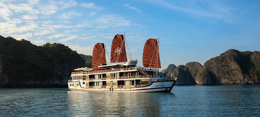 asia vietnam halong bay orchid cruise exterior