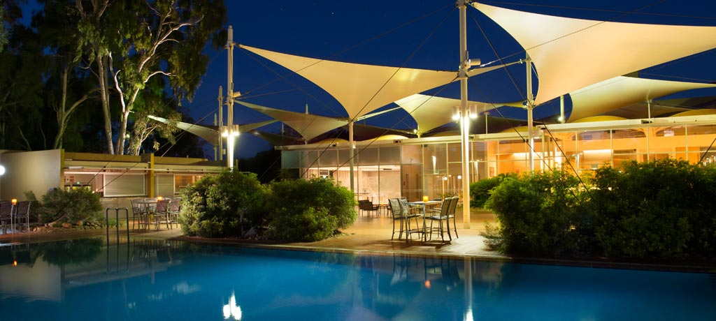 australia northern territory yulara sails in the desert pool