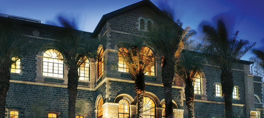 middle east jordan israel silk ancient wonders scots hotel exterior night