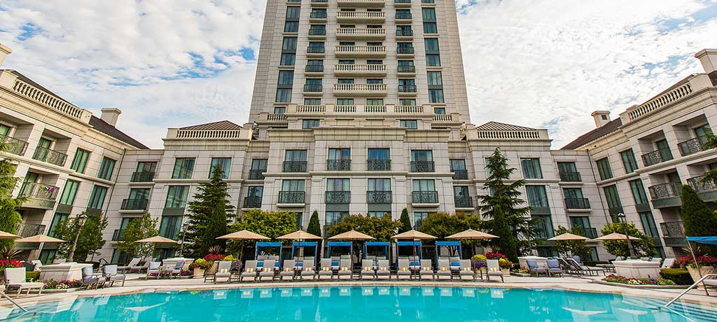 North America Utah Salt Lake City The Grand America Hotel outdoor pool