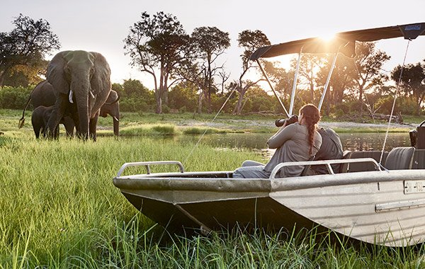 Africa Botswana Safari in Style Elephants Boat SR