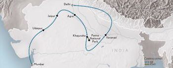 Itinerary map of Wings Over India