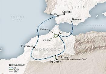 Map Of Spain Morocco.Wings Over Spain Morocco Abercrombie Kent