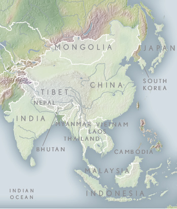 Asian Map Of The World.Travel Asia Luxury Asia Vacations Tours Abercrombie Kent