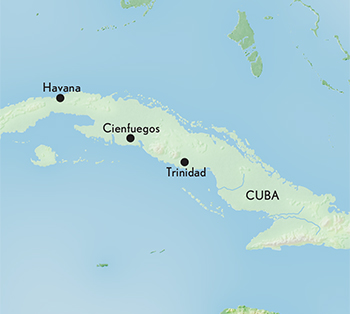 Travel To Cuba - Map of cuba and us