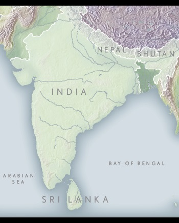 India and the Himalayas Map