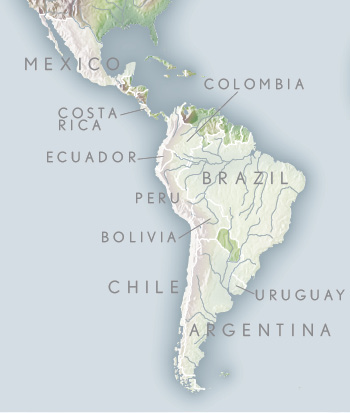Latin america travel luxury south america tours abercrombie kent latin america map gumiabroncs Image collections