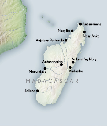 Travel Madagascar Map