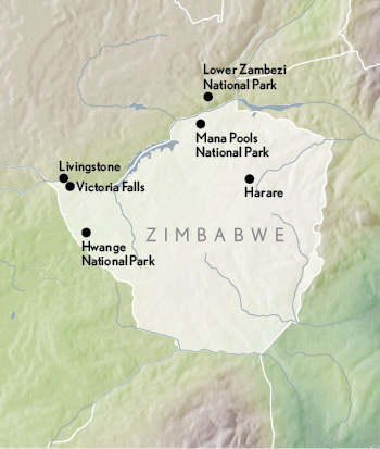 travel zimbabwe map