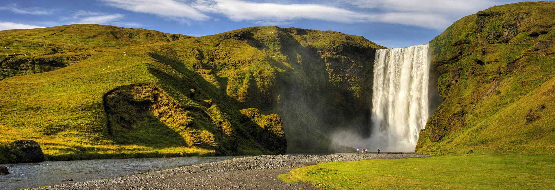 Europe Iceland Skogar Skogafoss Waterfall