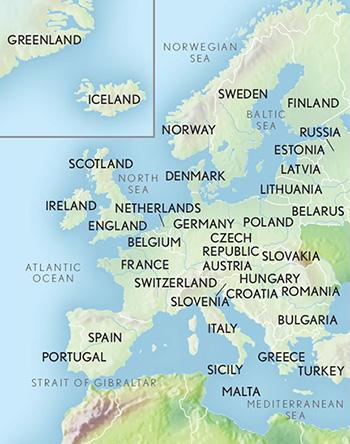 Map Of England And Europe.Luxury European Tours Luxury Travel Europe Abercrombie Kent