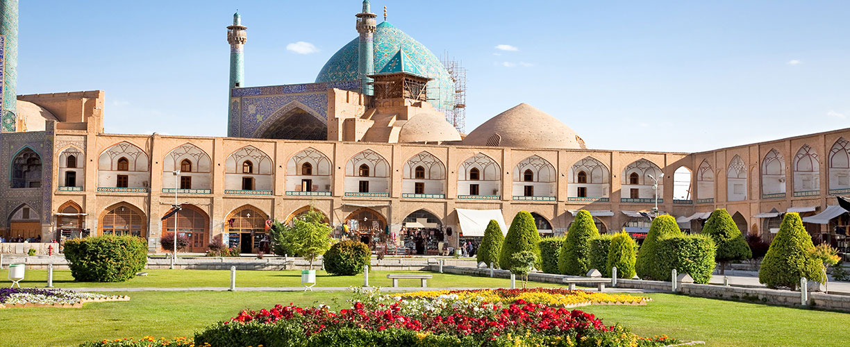 Middle East Iran Isfahan Esfahan Jahan Square Jame Abbasi Mosque