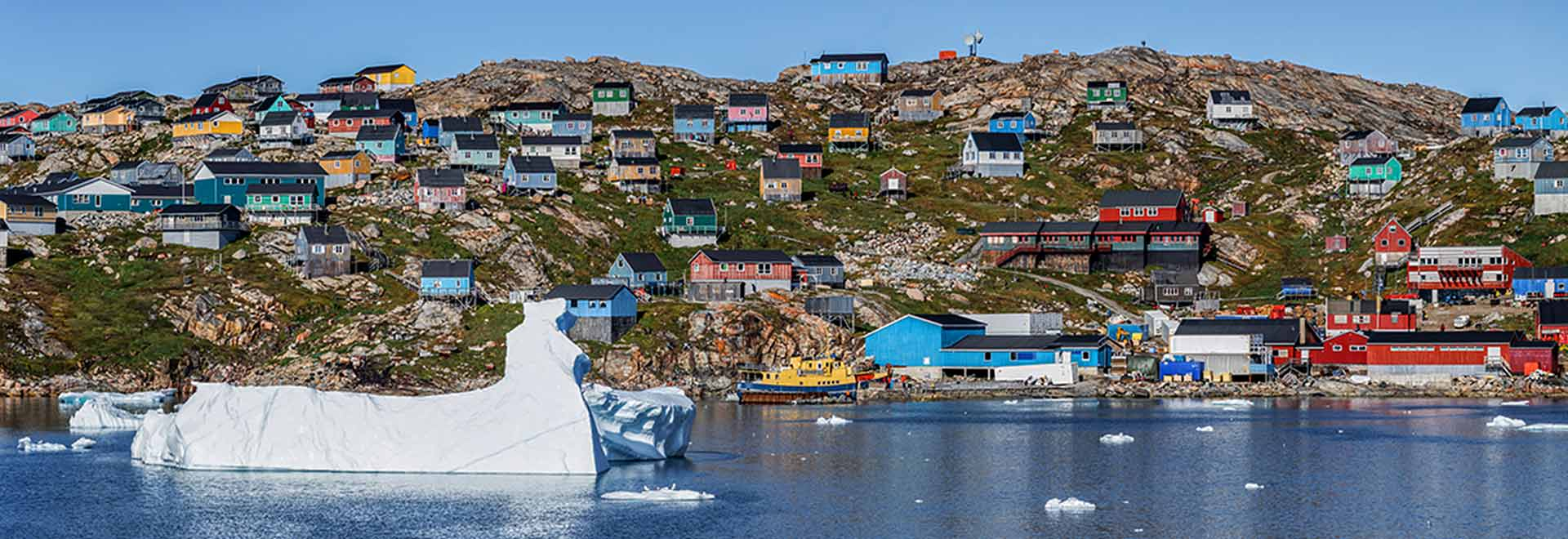 Northwest Passage Greenland Colorful Houses