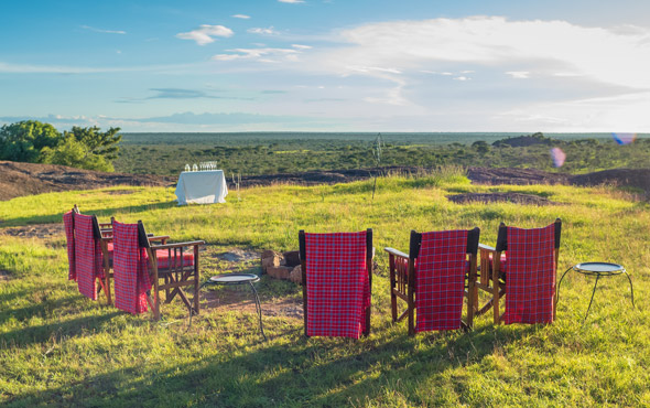 Africa Kenya Serengeti Migration Camp Chairs