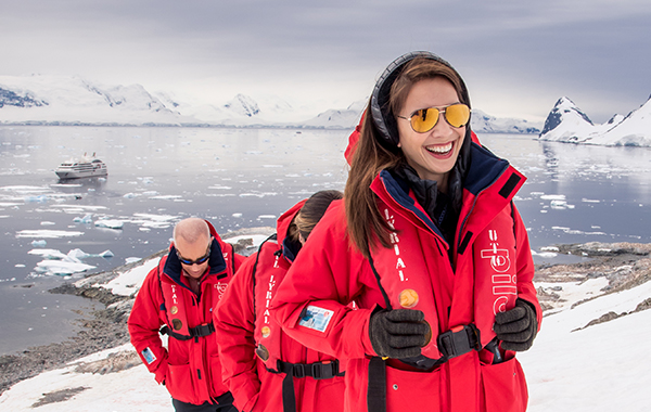 Antarctica Guests Girl Smiling Onshore