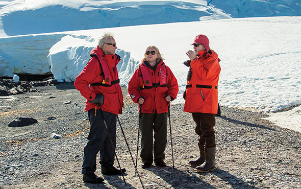 Antarctica Guide With Guests Onshore