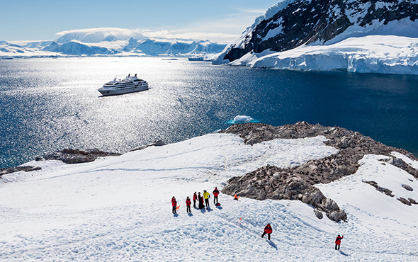 Antarctica Ship Neko Harbor Guests Onshore