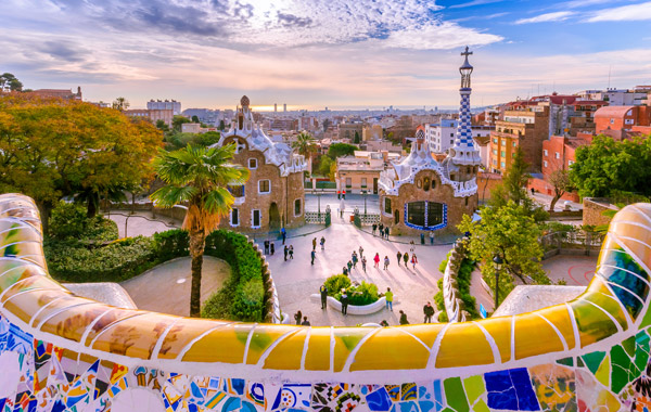 Europe Spain Barcelona Gaudi Park Guell