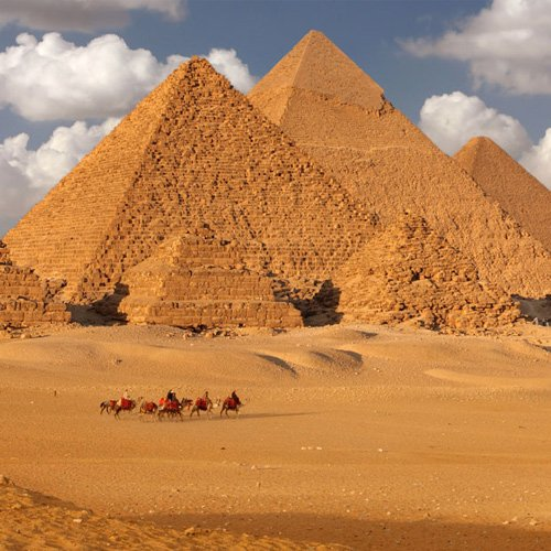 Middle East Egypt Pyramids Camels