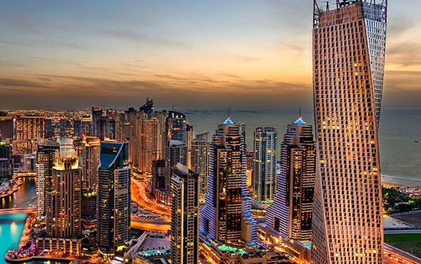 Middle East United Arab Emirites Dubai Marina